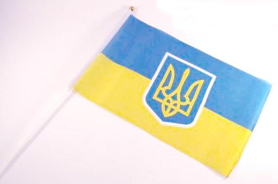 Флаг Украины 60х90см на флагштоке