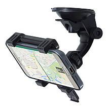 ➨Автодержатель Lesko для смартфона планшета диагональю 4.3-9 дюймов на лобовое стекло автомобиля, фото 3