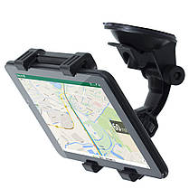 ➨Автодержатель Lesko для смартфона планшета диагональю 4.3-9 дюймов на лобовое стекло автомобиля, фото 2