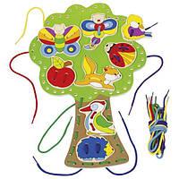 Шнуровка Обитатели леса Goki , детская развивающая игра шнуровка