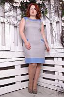Женский летний льняной сарафан больших размеров (48,50,52,54 )