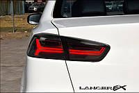 Альтернативная задняя оптика Lancer X тюнинг-оптика дымчатая Audi style