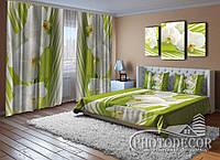 """Фото Комплект для спальни """"Пальмовая веточка и орхидеи"""""""