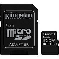 Карта памяти Kingston 16GB microSDHC C10 UHS-I R45/W10MB/s + SD адаптер SDC10G2/16GB (SDC10G2/16GB)