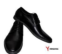 Мужские кожаные туфли черные классика
