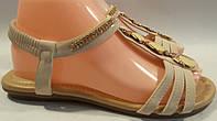 Босоножки женские эко-кожа р36-41 CHANGFA 729 бежевые TONI