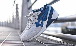 Мужские кроссовки KITH x Asics Gel Sight синие топ реплика, фото 2