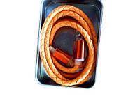 Кабель iphone 5 6 кожа подарочная упаковка