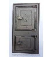 Дверца поддувальная и топочная спаренная (большая) 270*490