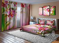 """Фото Комплект для спальни """"Пестрые орхидеи"""""""