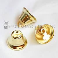 Колокольчик металлический, 25 мм, золотистый