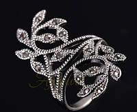 1031 - Бижутерия кольцо с кристаллами покрытие серебро