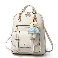 Женская сумка рюкзак трансформер. Стильные женские рюкзаки в двух цветах: черный, бежевый., фото 1