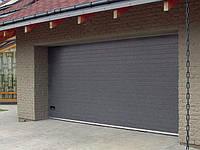 Гаражные секционные ворота Doorhan 2500 х 2000 коричневые