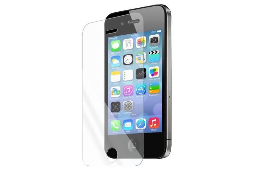 Защитная пленка-стекло на iPhone 4s