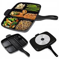 Сковорода гриль с антипригарным покрытием Magic Pan Меджик Пен на 5 секций, фото 1