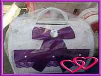 """Свадебные сундуки для денег """"Кружево"""" Фиолетовый"""