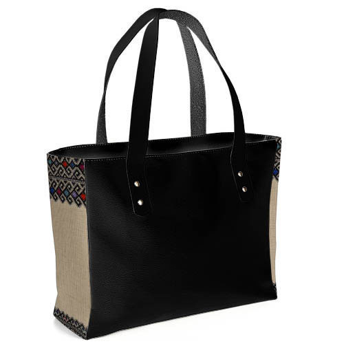 b54625bdd9ad Сумка женская большая классическая серо-синяя текстиль вставки -  Интернет-магазин товаров для всей