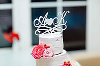Свадебный топпер с буквами!!!