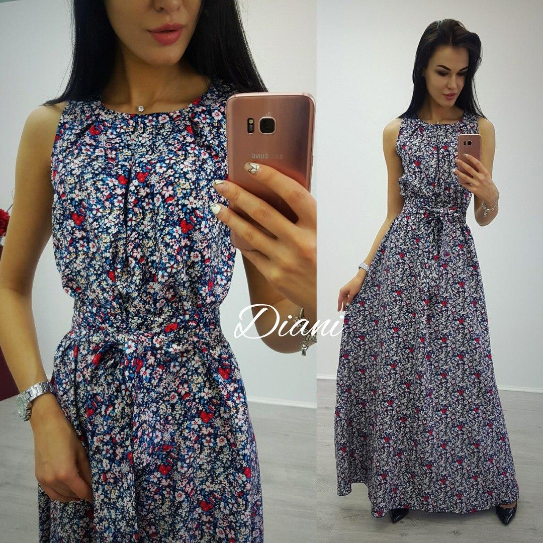 b51e93d37b0 Платье женское летнее в пол штапель 2 расцветки SMdi1457