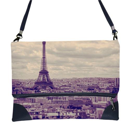 Сумка через плечо с принтом Париж