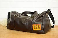 Кожаная спортивная сумка Travel с гравировкой, фото 1