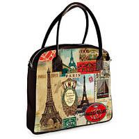 Сумка Ксения с принтом Прекрасный Париж