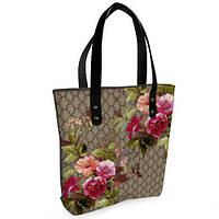 Женская сумка Bigbag с принтом Розы пионы