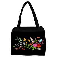 Женская сумка с принтом Цветы цветные