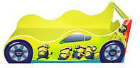 """Кровать машина серия """"Драйв"""" модель Миньон желтый для детей и подростков, с бесплатной доставкой в Ваш город"""