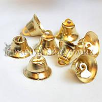 Колокольчик декоративный, 22 мм, золотистый
