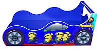 """Кровать машина серия """"Драйв"""" модель Миньон синий для детей и подростков, с бесплатной доставкой в Ваш город"""