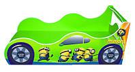 """Кровать машина серия """"Драйв"""" модель Миньон лайм для детей и подростков, с бесплатной доставкой в Ваш город"""