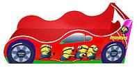 """Кровать машина серия """"Драйв"""" модель Миньон красный для детей и подростков, с бесплатной доставкой в Ваш город"""