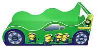 """Кровать машина серия """"Драйв"""" модель Миньон зеленый для детей и подростков, с бесплатной доставкой в Ваш город"""