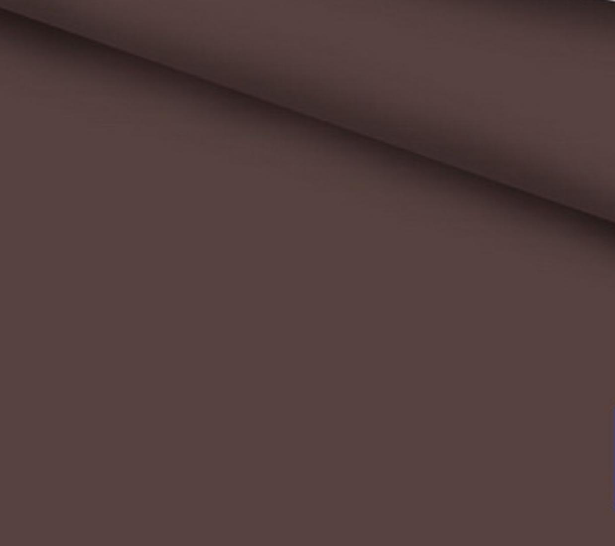 Хлопковая ткань бязь однотонная коричневая шир. 2,2 м №401