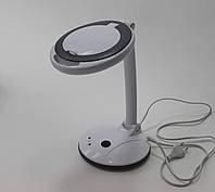 Настольная лампа-лупа LED 3+12D С РЕГУЛИРОВКОЙ ЯРКОСТИ 2028F для мастера маникюра
