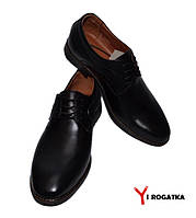 Мужские кожаные туфли CEVIVO черные, классика, кожаная подкладка