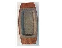 Сковорода чугун на деревянной подставке 300*200 мм