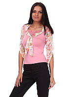 Блуза Циганочка 0650 (нежно-розовый)