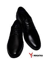 Мужские модельные кожаные туфли KARAT, черные, шнурок