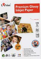 Фотобумага UPRINT глянцевая 10х15, 170г/м2, 100 листов