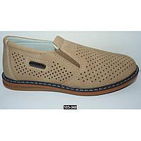 Летние мокасины, туфли для мальчика, 27-32 размер, супинатор, кожаная стелька