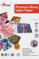Фотобумага UPRINT глянцевая 10х15, 210г/м2, 100 листов