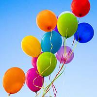 """Воздушные латексные шарики ассорти пастель 8"""" (21 см), 10 штук"""