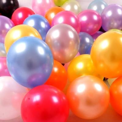 """Воздушные латексные шарики ассорти МЕТАЛЛИК 10"""" (25 см), 10 штук"""