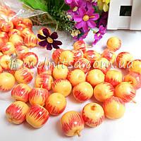 Яблочко желтое с красным, 2 см