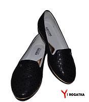 Женские кожаные туфли, черные, кожаная подкладка