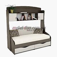 Кровать Горизонт + Надстройка ПК-1 Тиса-Мебель, фото 1