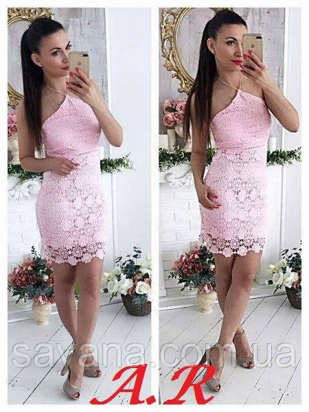 Женское симпатичное кружевное платье, в расцветках
